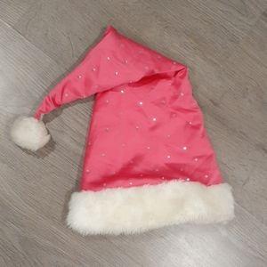 Victoria's Secret Hot Pink Diamond Santa Hat